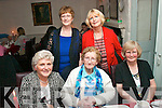 BIRTHDAY DINNER: Kathleen Kelly,  Dromiskil, Co Louth (seated centre) who was treated by her family from Tralee to a meal out in Cassidy's, on the occasion of her 86th birthday last Friday night, also seated is Dolores O'Connor (lt) and Ann Delaney (rt). Back l-r: Martha Walsh and Liz Corrigan.