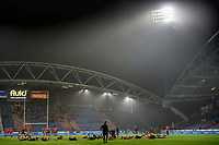 Picture by Allan McKenzie/SWpix.com - 15/03/2018 - Rugby League - Betfred Super League - Huddersfield Giants v Hull KR - John Smith's Stadium, Huddersfield, England - Huddersfield warm up on a murky evening at the John Smith's Stadium.