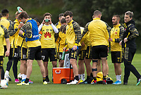 Wellington Phoenix training at Martin Luckie Park in Wellington, New Zealand on Saturday, 19 October 2019. Photo: Dave Lintott / lintottphoto.co.nz