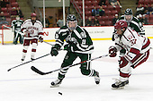 John Ernsting (Dartmouth - 19), Desmond Bergin (Harvard - 37) - The Harvard University Crimson defeated the Dartmouth College Big Green 5-2 to sweep their weekend series on Sunday, November 1, 2015, at Bright-Landry Hockey Center in Boston, Massachusetts.