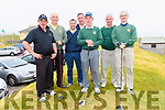 Ross Killarney team members Johnny Brosnan, Terence Mulcahy, Leo Casey, John Cuskley, Tadhg Moynihan, Ambrose O' Donovan and Jimmy Smith during the Pierce Purcell Golf Tournament at Ceann Sibéal Golf course, Baile an Fheirtéaraigh, on Saturday.