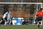 07 December 2008: Notre Dame's Kerri Hanks (left) celebrates her goal only seventeen seconds into the game. The University of North Carolina Tar Heels defeated the Notre Dame Fighting Irish 2-1 at WakeMed Soccer Park in Cary, NC in the championship game of the 2008 NCAA Division I Women's College Cup.