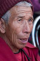 Bodhnath, Nepal.  Old Nepali Man.