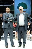 Luigi Angeletti e Raffaele Bonanni<br /> Roma 13/06/2013 Palazzo dei Congressi. XVII Congresso Interfederale della CISL.<br /> Photo Samantha Zucchi Insidefoto