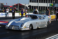 Apr. 27, 2012; Baytown, TX, USA: NHRA pro mod driver Brad Brand during qualifying for the Spring Nationals at Royal Purple Raceway. Mandatory Credit: Mark J. Rebilas-