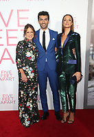 LOS ANGELES, CA - MARCH 7: Cathy Schulman, Justin Baldoni, Emily Baldoni, at The Premiere Of Lionsgate's &quot;Five Feet Apart&quot; at The Fox Bruin Theatre in Los Angeles, California on March 7, 2019. <br /> CAP/MPI/SAD<br /> &copy;SAD/MPI/Capital Pictures