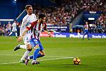 Atletico de Madrid's player Yannick Carrasco and Malaga CF Mikel Villanueva Alvarez during a match of La Liga Santander at Vicente Calderon Stadium in Madrid. October 29, Spain. 2016. (ALTERPHOTOS/BorjaB.Hojas)