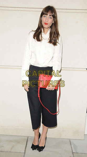 Laura Jackson<br /> attended the Chanel new flagship boutique launch party, Chanel, New Bond St., London, England.<br /> June 10th, 2013<br /> full length white shirt cropped black trousers red clutch bag<br /> CAP/CAN<br /> &copy;Can Nguyen/Capital Pictures