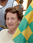 Meath Supporter Nancy Corrigan at the Senior Citizens Summer Party...Photo NEWSFILE/Jenny Matthews.(Photo credit should read Jenny Matthews/NEWSFILE)....This Picture has been sent you under the condtions enclosed by:.Newsfile Ltd..The Studio,.Millmount Abbey,.Drogheda,.Co Meath..Ireland..Tel: +353(0)41-9871240.Fax: +353(0)41-9871260.GSM: +353(0)86-2500958.email: pictures@newsfile.ie.www.newsfile.ie.FTP: 193.120.102.198.