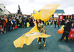 One of the many colourful participants in the Fleadh Nua parade - June 4, 1999. Photograph by John Kelly