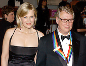 It was announced today that famed Director Mike Nichols passed away suddenly on Wednesday, November 20, 2014 at age 83.  In this file photo from December 7, 2003, he is pictured with his wife, Diane Sawyer, as they arrive at the John F. Kennedy Center for the Performing Arts in Washington, DC.  Nichols was one of the 2003 Kennedy Center Honorees. <br /> Credit: Ron Sachs / CNP