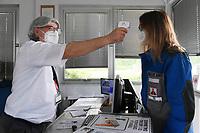 Emergenza Coronavirus - fase due - ATB Group controllo della temperatura all'ingresso Roncadelle 08/06/2020<br /> <br /> Coronavirus emergency - phase two - ATB Group temperature control at the entrance Roncadelle 08/06/2020