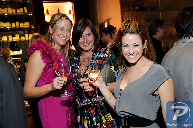 Nichole Ruvo, Dina Freeman, Courtney Schorr, at the Dom Perignon Champagne event to pay tribute to Andy Warhol at the Mandarin Bar inside Mandarin Oriental, Las Vegas, NV, November 10, 2010 © Al Powers / Vegas Magazine