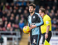Joe Jacobson of Wycombe Wanderers during the Sky Bet League 2 match between Northampton Town and Wycombe Wanderers at Sixfields Stadium, Northampton, England on the 20th February 2016. Photo by Liam McAvoy.