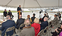 Louisville Regional Airport Authority celebrates the completion of Taxiway Alpha at the Louisville International Airport.