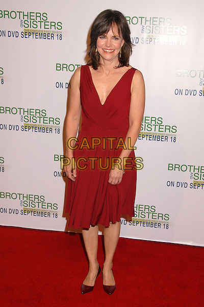 "SALLY FIELD.""Brothers and Sisters"" Season One DVD Release Party at San Antonio Winery, Los Angeles, California, USA..September 10th, 2007.full length red dress sleeveless low cut neckline .CAP/ADM/BP.©Byron Purvis/AdMedia/Capital Pictures."