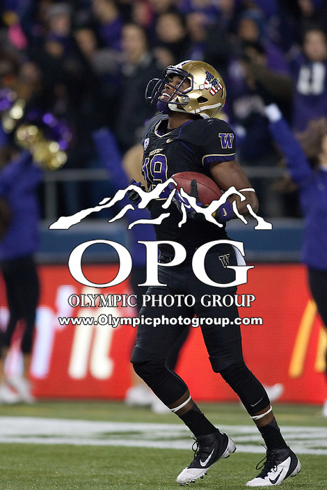 NOV 10, 2012:  Washington's DiAndre Campbell against Utah.  Washington defeated Utah  34-15 at CenturyLink Field in Seattle, WA...