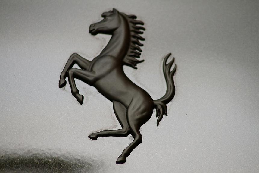 black prancing horse ferrari decal