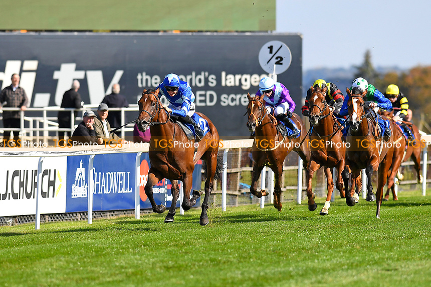 Winner of The PKF Francis Clark EBF Novice Stakes Div 2 Stormwave ridden by Harry Bentley and trained by Ralph beckett  during Afternoon Racing at Salisbury Racecourse on 3rd October 2018