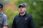 GREENSBORO, NC - OCTOBER 29: Northwestern head coach David Inglis (ENG). The third round of the UNCG/Grandover Collegiate Men's Golf Tournament was held on October 29, 2017, at the Grandover Resort East Course in Greensboro, NC.