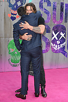 "Jai Courtney and Jason Momoa<br /> arrives for the ""Suicide Squad"" premiere at the Odeon Leicester Square, London.<br /> <br /> <br /> ©Ash Knotek  D3142  03/08/2016"