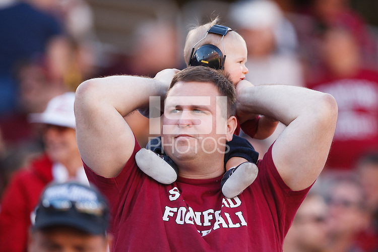 STANFORD,CA-- November 23, 2013: Fan during the Stanford vs Cal game Saturday afternoon at Stanford Stadium.<br /> <br /> Stanford won 63-13.