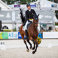 USA-Michael Flynn rides Wizzerd during the second day of Dressage for the CCIO4*-L FEI Nations Cup Eventing. 2019 Military Boekelo-Enschede International Horse Trials. Friday 11 October. Copyright Photo: Libby Law Photography