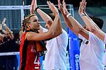 25.08.2018, …VB Arena, Bremen<br />Volleyball, LŠ&auml;nderspiel / Laenderspiel, Deutschland vs. Niederlande<br /><br />Maren Fromm (#4 GER) enttŠuscht / enttaeuscht / traurig nach Niederlage<br /><br />  Foto &copy; nordphoto / Kurth