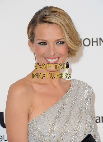 Petra Nemcova.The 21st Annual Elton John AIDS Foundation Academy Awards Viewing Party held at The City of West Hollywood Park in West Hollywood, California, USA..February 24th, 2013.oscars headshot portrait grey gray silver one dangling earrings shoulder beads beaded sparkly.CAP/DVS.©DVS/Capital Pictures.