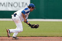 27 july 2010: Maxime Lefevre of France catches the ball during France 8-2 victory over Belgium, in day 5 of the 2010 European Championship Seniors, in Stuttgart, Germany.