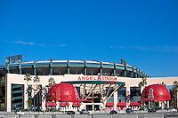 Angel Stadium Anaheim Stock Photo