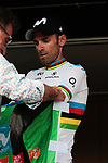 World Champion Alejandro Valverde (ESP) Movistar Team wins Stage 1 and also wears the points jersey of the Route d'Occitanie 2019, running 175.5km from Gignac-Vallée de l'Hérault to Saint-Geniez-d'Olt-et-d'Aubrac , France. 20th June 2019<br /> Picture: Colin Flockton | Cyclefile<br /> All photos usage must carry mandatory copyright credit (© Cyclefile | Colin Flockton)