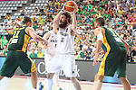 07.09.2014. Barcelona, Spain. 2014 FIBA Basketball World Cup, round of 16. Picture show C. Frank  in action during game between New Zealand   v  Lithuania at Palau St. Jordi
