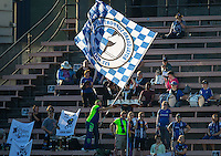 Seattle, WA - Saturday July 23, 2016: Fans during a regular season National Women's Soccer League (NWSL) match between the Seattle Reign FC and the Orlando Pride at Memorial Stadium.