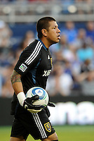 Real Salt Lake goalkeeper Nick Rimando.. Sporting Kansas City defeated Real Salt Lake 2-0 at LIVESTRONG Sporting Park, Kansas City, Kansas.