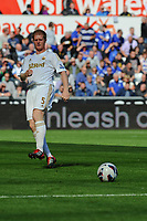 Saturday 22 September 2012 <br /> Pictured: Alan Tate<br /> Barclays Premiership, Swansea City v Everton at the Liberty Stadium, south Wales.