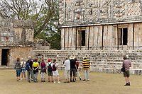 Group of tourists in the Nunnery Quadrangle