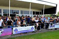 SCHOONEBEEK - Voetbal, SVV 04 - FC Emmen, voorbereiding seizoen 2018-2019, 06-07-2018,  veel publiek op het terras van het fraaie clubhuis