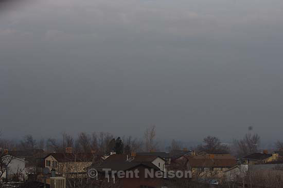 Kearns - Inversion pollution over neighborhood. Thursday, January 22, 2009.; 01.22.2009.