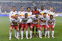 New York Red Bulls starting eleven. The New York Red Bulls defeated the New England Revolution 2-0 during a Major League Soccer (MLS) match at Red Bull Arena in Harrison, NJ, on October 21, 2010.