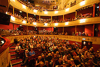 Auditorium of the The Theatre Royal, Bath, UK, October 19, 2007. The city of Bath is famed for it's hot springs (the only in the UK) and it's Georgian architecture. The city is a UNESCO World Heritage Site.