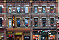 Country Music bars and boots on Broadway, Nashville, Tennessee, USA.