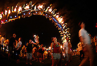 "COACHELLA,CA - APRIL18,2009: Burning Lotus Girls art installation, ""Serpent Mother"" wows the crowd at  Coachella Valley Music and Arts Festival Saturday, April 18, 2009. 147717.CA.0418.coachella"