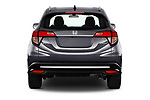 Straight rear view of a 2019 Honda HR-V Sport 5 Door SUV stock images
