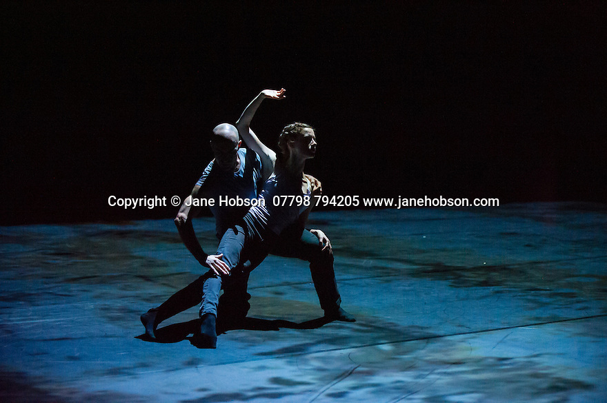 London, UK. 05.06.2014. Russell Maliphant and Carys Staton, in rehearsal for STILL CURRENT, choreographed by Russell Maliphant, at Sadler's Wells. Photograph © Jane Hobson.