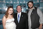 Jacey Powers, Producer Terry Schnuck and Daniel Everidge attending the Off-Broadway Opening Night Performance After Party for 'Falling' at Knickerbocker Bar & Grill on October 15, 2012 in New York City.