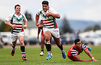 Action during the New Zealand Secondary Schools Nationals Semi-Finals, Kelson (RED) v Westlake, Bruce Pulman Park, Papakura, Auckland, Thursday 1st September 2016. Photo: Simon Watts/www.bwmedia.co.nz