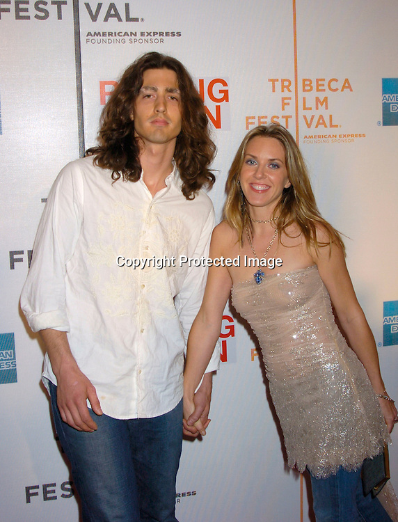 "Liz Phair and boyfriend Dino Meneghin ..at the Opening Night of The Tribeca Film Festival screening of ""Raising Helen"" on May 1, 2004 at the ..Tribeca Performing Arts Center. ..Photo By Robin Platzer, Twin Images.."