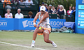 June 16th 2017, Nottingham, England;WTA Aegon Nottingham Open Tennis Tournament day 7;  Ashleigh Barty of Australia in action in the quarter final against Johanna Konta of Great Britain; Konta won 6-3, 7-5 to reach the semi finals