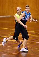 16.09.2016 Silver Ferns Katrina Grant and Shannon Francois in action during traning ahead of the last Taini Jamison netball match between the Silver Ferns and Jamaica to be played in Rotorua. Mandatory Photo Credit ©Michael Bradley.